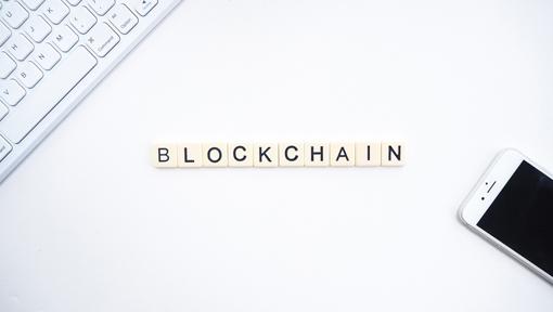 Scrabble Tiles Spell Blockchain Image