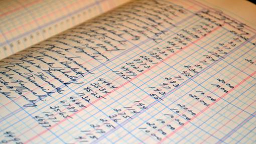 Handwritten Paper Ledger Image